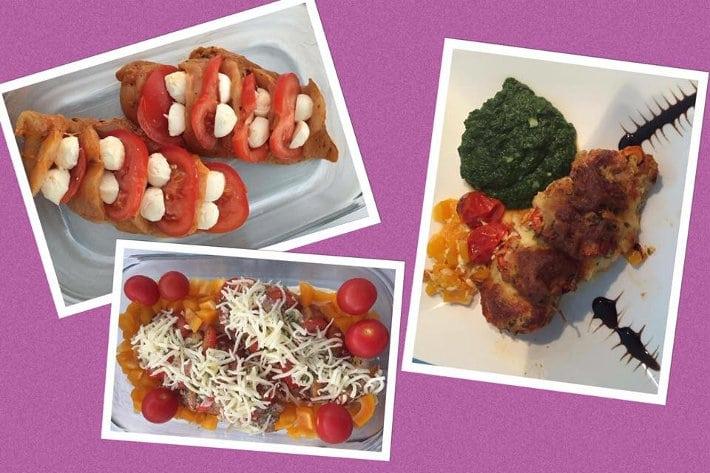 rezept poulet tomaten mozzarella gratin fit und schlank mit marianne keller. Black Bedroom Furniture Sets. Home Design Ideas